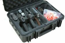 Pistol Case & Accessory Pocket with Silica Gel Waterproof Holds Up to 3 Pieces