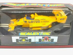 Vintage Camel Lotus 99T F1 Scalextric Slot Car, Scalextric C434 Ayrton Senna Car