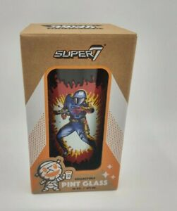 GI Joe Cobra Commander collectible Pint glass Super7 16 oz.