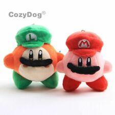 2 Super Mario Kirby Waddle Dee Mario Luigi Hat Kirby Soft Plush Stuffed Doll Toy