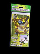 Australian Made Souvenir 3D Pop-Out Construction Postcard - Superb Blue Wren