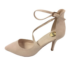 Buffalo Womens Nude Faux Suede Heel Ankle Strap Party Court Shoes Size UK 8 New