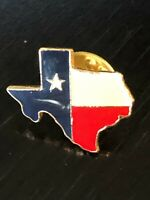Collectible Vintage Texas Shape Of Colorful Metal Pinback Lapel Pin Hat Pin