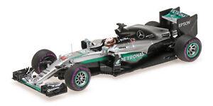 1:43 Minichamps Mercedes Amg W07 Lewis Hamilton Winner Monaco Gp 2016 417160344