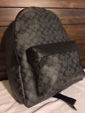 Coach Charles Large Charcoal/Black Signature Backpack F55398 Char/Black MSRP$495