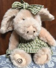 "Longaberger Boyds Bear Collection 9"" Plush Pig Petunia Steadsbeary With Stand"