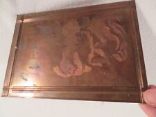 Vtg Etching Engraved Printing Machine Press Plate Stamp ~ Bearded Tulip Yellow