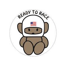 Sticker plastifié READY TO RACE USA - Harley Buell - 6cm x 6cm