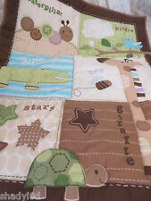 CIRCO 3 Pc Nursery Set Comforter Crib Sheet Dust Ruffle Adorable Animal Print