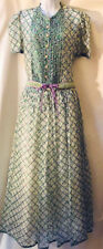 Vtg Miss O / Oscar de la Renta 2 piece floral silk organza evening dress sz 8