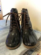 Duck  Boots, Women's, Black,  Adriana, size 6.5