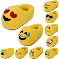 New Ladies / Girls Emoji Emoticon 3D Slip On Stuffed Plush Slippers