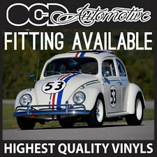 VOLKSWAGEN BEETLE HERBIE 53 GRAPHICS KIT DECALS STICKER KIT NEW AND OLD