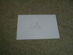 TIM BRESNAN - YORKSHIRE & ENGLAND - SIGNED 6 X 4 WHITE CARD