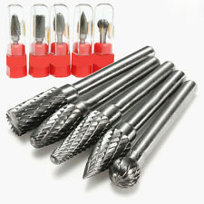 5pcs 1/4'' Tungsten Carbide Burr Bit Rotary Cutter Files CNC Engraving CED Tool