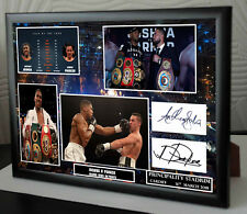ANTHONY JOSHUA  PARKER CARDIFF Framed Canvas Print Signed Great Gift-Souvenir