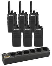 Lot of 6 NEW!! Motorola RMU2080s with Mutli-Charger Included