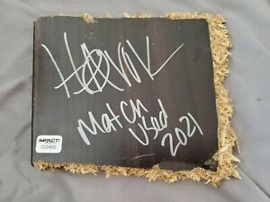HAVOK match-used & autographed Broken Table Slab from #IMPACTonAXSTV w/ Hologram