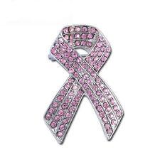 Beautiful Pink Ribbon Bow Shiny Brooch Pin BR254
