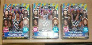 Topps WWE Road to WrestleMania 2021 Stickers Collector Tin. 81 Stickers inside