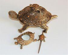Asian Box Turtle  Shape Pen Holder Handmade Brass Reptile Design Pen Stand UR39