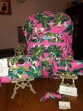 NEW~Vera Bradley~Tropical Paradise 4pc Set! Lighten Up Campus Backpack & More!
