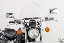 "Yamaha V-Star 650 & 1100 Classic & Custom - 14"" Clear Mini Police Windshield"