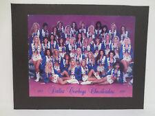 DALLAS COWBOYS CHEERLEADERS PICTURE 8.5X11 VINTAGE RETRO VTG 1995 - 1996 NFL