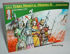 LUCKY TOYS - MEDIEVAL TURKS TURKISH (MEHMED II)- 42 PLASTIC PIECES - 1/72 SCALE