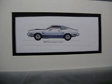 1977  Ford Mustang ll Cobra ii    From  50 Year Anniversary Exhibit by artist