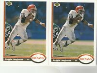 FREE SHIPPING-MINT-1991 Upper Deck #241 Reggie Langhorne Cleveland Browns-2 CARD