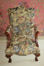 1 Southwood Furniture Chippendale Upholstered Chair Mahogany Ball and Claw Feet