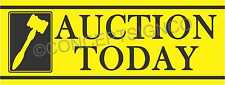 3'X8' AUCTION TODAY BANNER Outdoor Sign LARGE Auto Storage Agriculture Equipment