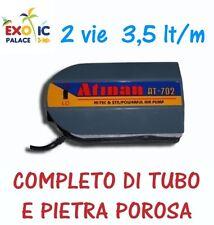 AREATORE AERATORE ATMAN AT702 2 USCITE 2 VELOCITA' DOPPIA VIE PER ACQUARIO POMPA