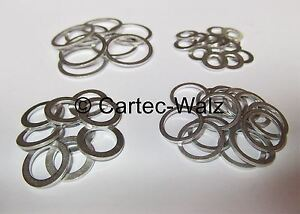 Aluminium Flachdichtung Dichtring Dichtung Alu Ø 5 - 48 mm DIN 7603 VPE 100 ST