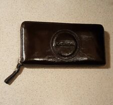 COACH PATENT LEATHER  ZIP AROUND WALLET