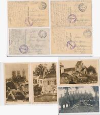 LAON Frankreich  France FUSS ARTILLERIE BATTERIE Militär Feldpost WW1 1916 (486