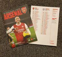 Arsenal v Manchester Man City PREMIER LEAGUE Programme 21/2/21! READY TO POST!!!