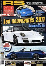 RS MAGAZINE 112 PORSCHE 997 SPEEDSTER 997 CARRERA GTS 904 356 BT5 CAB 911 SPEEDS