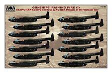 AOA decals 1/144 GUNSHIPS RAINING FIRE AC-119G & AC-119K Stingers in Vietnam War