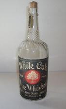 1890's White Oak Rye Labeled Whiskey Cincinnati Ohio Bottle - Pre-Pro - Rare