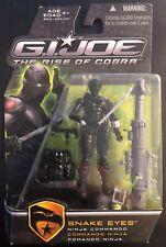 GI JOE Rise of Cobra Snake Eyes Ninja Commando G.I. Joe Sealed 2009 Hasbro