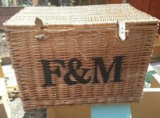 Fortnum and Mason Hamper Basket - Large Upright Style with buckles.