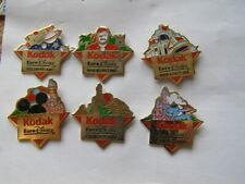 lot 6 pins disney eurodisney kodak differents