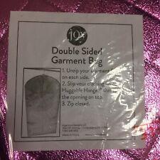 Joy Mangano- Double Sided Garment Bag- Zipped Closed- Metallic Magenta Pink- New