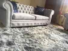 Luxurious Silver Alpaca fur rug natura, handmade in Peru, custom rugs Alpaca rug