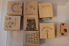 Stampin Up Fun Filled Wood Mounted Rubber Stamp Set 8 Birthday Flower Shopping