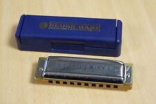 Harmonica diatonic Hohner MS Blues Harp 10 holes in C. Harmonica comb wood