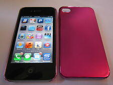 Purple Metallic Shiny iphone 4 4G 4S Hard Full Back Protective Snap-On Case