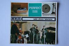 Sammlungsauflösung altes Prospekt RFT radio phono television Perfekt 506